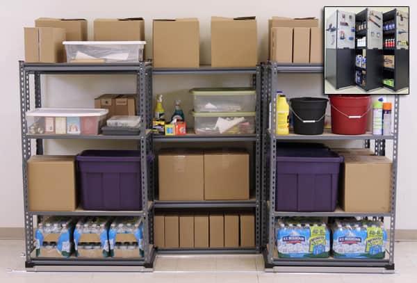 garage storage nested shelves on tracks