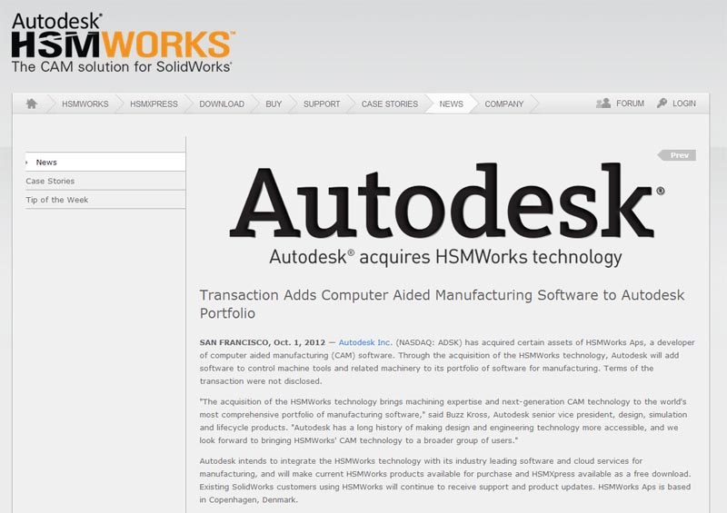 Autodesk acquires HSMWorks