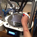 Building the Rostock MAX v2 Printer, Part 4:  First Part Printed