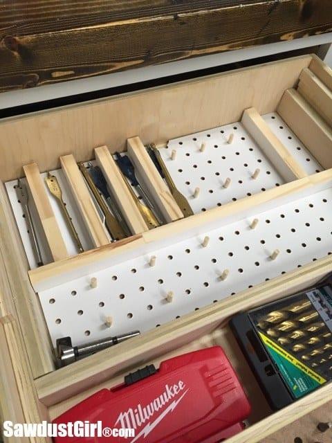 pegboard drawer organizer