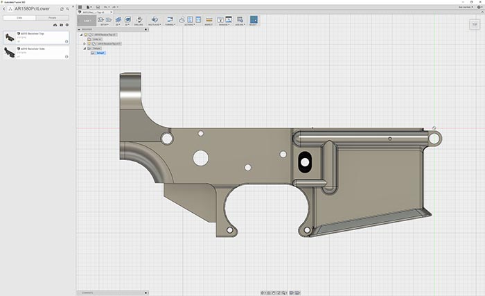 AR-15 Lower Receiver CAD Fusion360