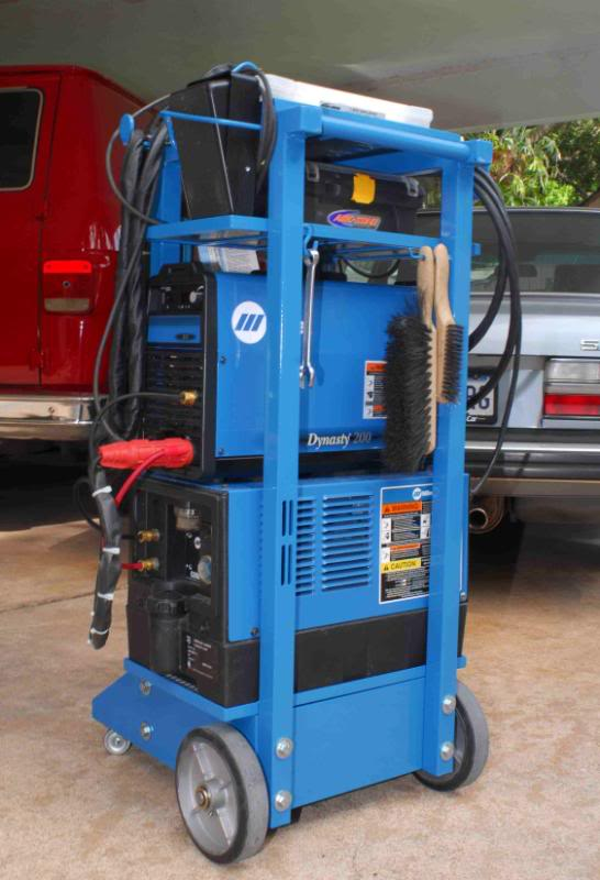Miller Dynasty Cart. These carts that match the welder's are sharp…