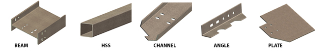 Sizes for steel i beams hss channel and angle free