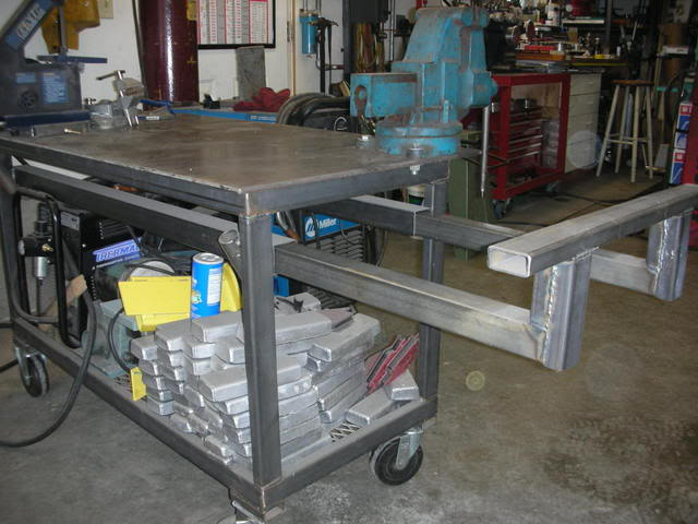 Complete diy welding table and cart ideas 50 designs see how others have handled storage for welding machines rods gas tanks angle grinders chop saw vises clamping and more see which work surfaces will solutioingenieria Gallery