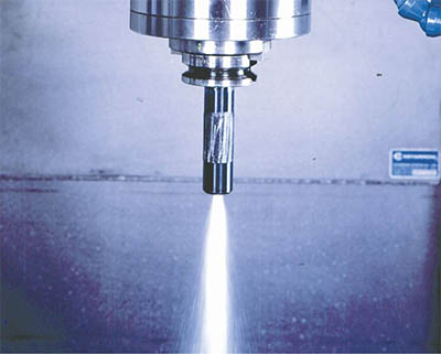 high pressure through spindle coolant feeds and speeds