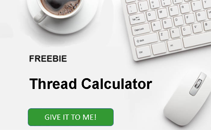free thread calculator