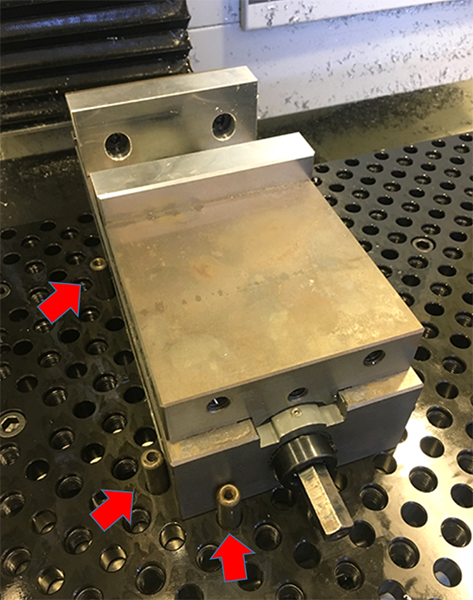 mount a vise on a fixture plate