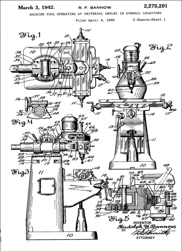 bridgeport mill patent