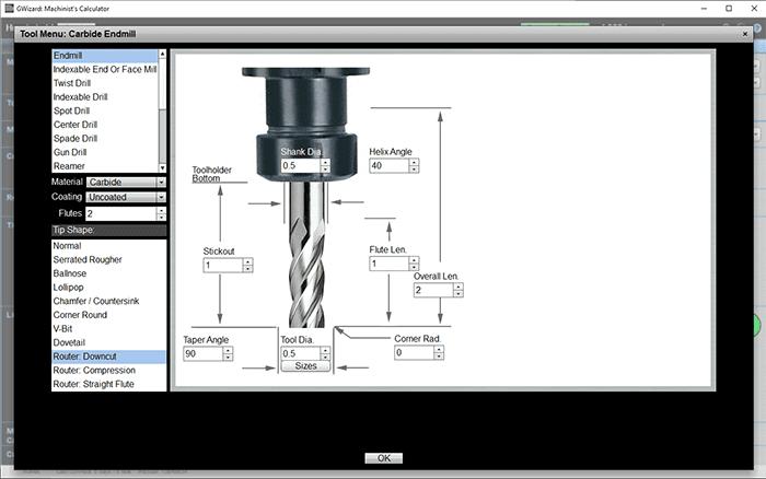 cnc router downcut spirals end mills