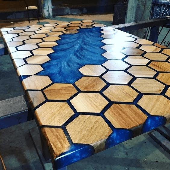 cnc furniture epoxy resin table