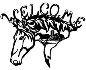 western horses art