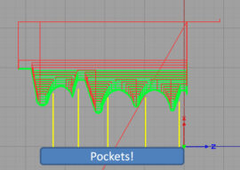 """G71 Type 2: Rough Turning With """"Pockets"""""""